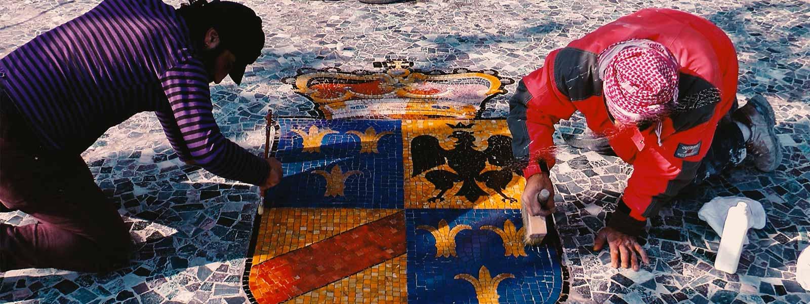 restauro mosaici monza e milano