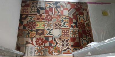 Cementine lavorazione restauro Milano36