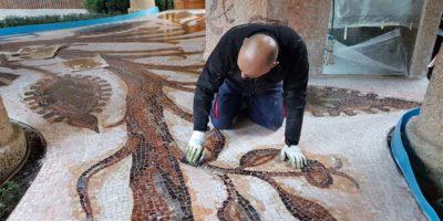 Restauro mosaici Milano2