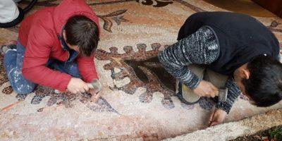 Restauro mosaici Milano8