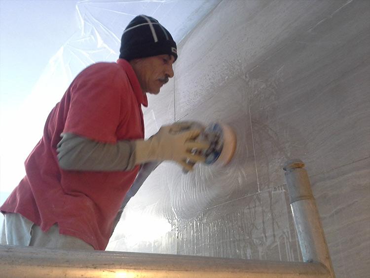 restauro piano verticale marmo