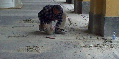 restauro pavimenti con mosaici